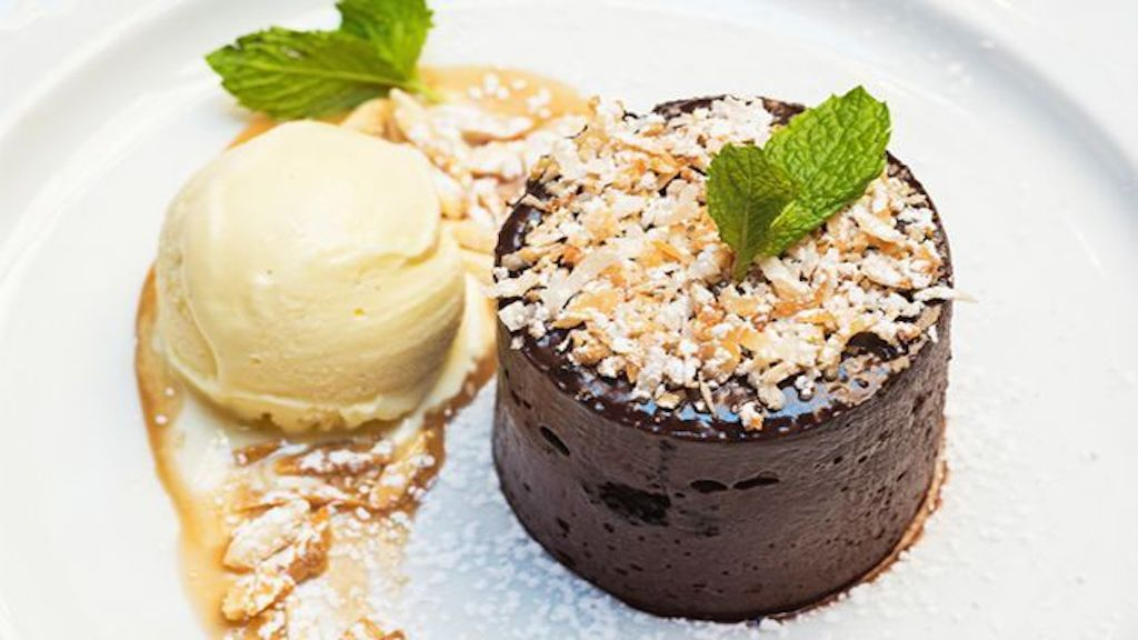 Valentine's Day dining in DC. If you can snag a last-minute reservation, the Riggsby's chocolate ice box cake is a must. Photograph by Scott Suchman.