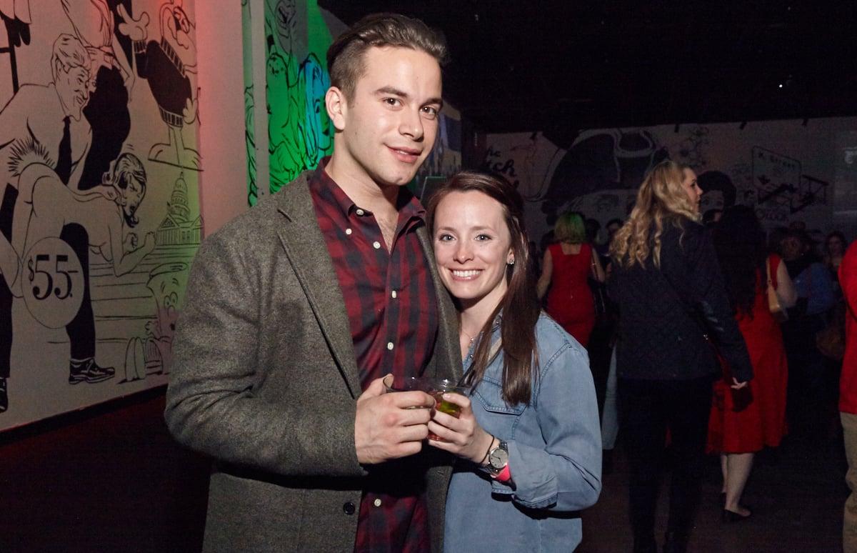 Nathan Smith with winner Katie Douglas.