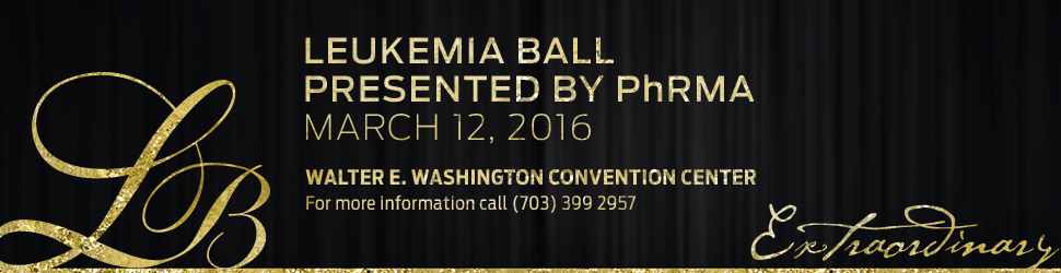 Help Fight Blood Cancers at the 2016 Leukemia Ball presented by PhRMA!