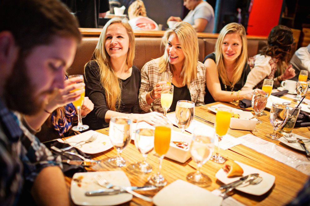 Brunch becomes a party at Masa 14. Photograph by Scott Suchman