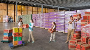 Here's What a Warehouse Full of Girl Scout Cookies Looks Like