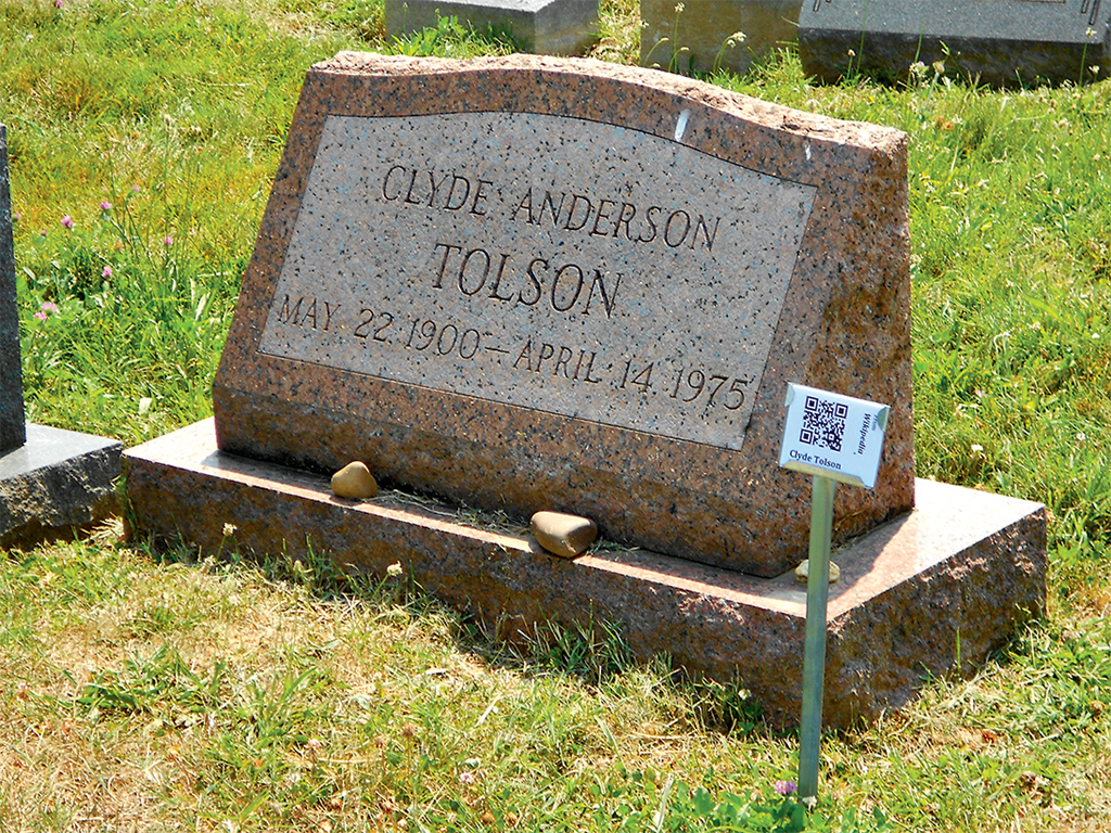 Photograph of Tolson Grave by CPC Collection/Alamy