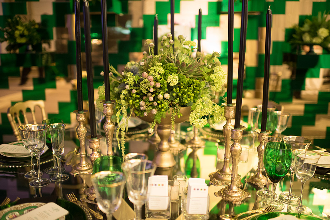 Edge Floral Event Designers wowed guests with their intricate floral arrangements and stunning table display.