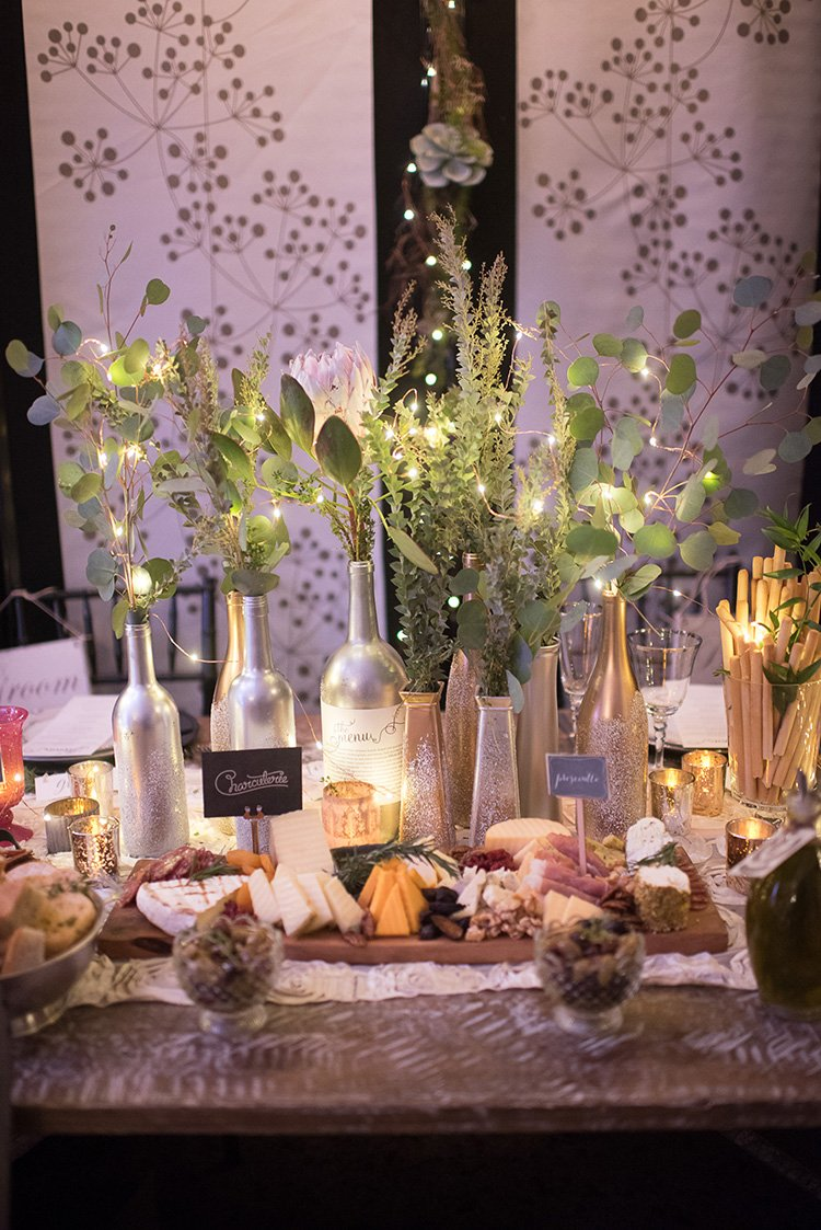 Amphora Catering set up a magical display of treats for guests to view.