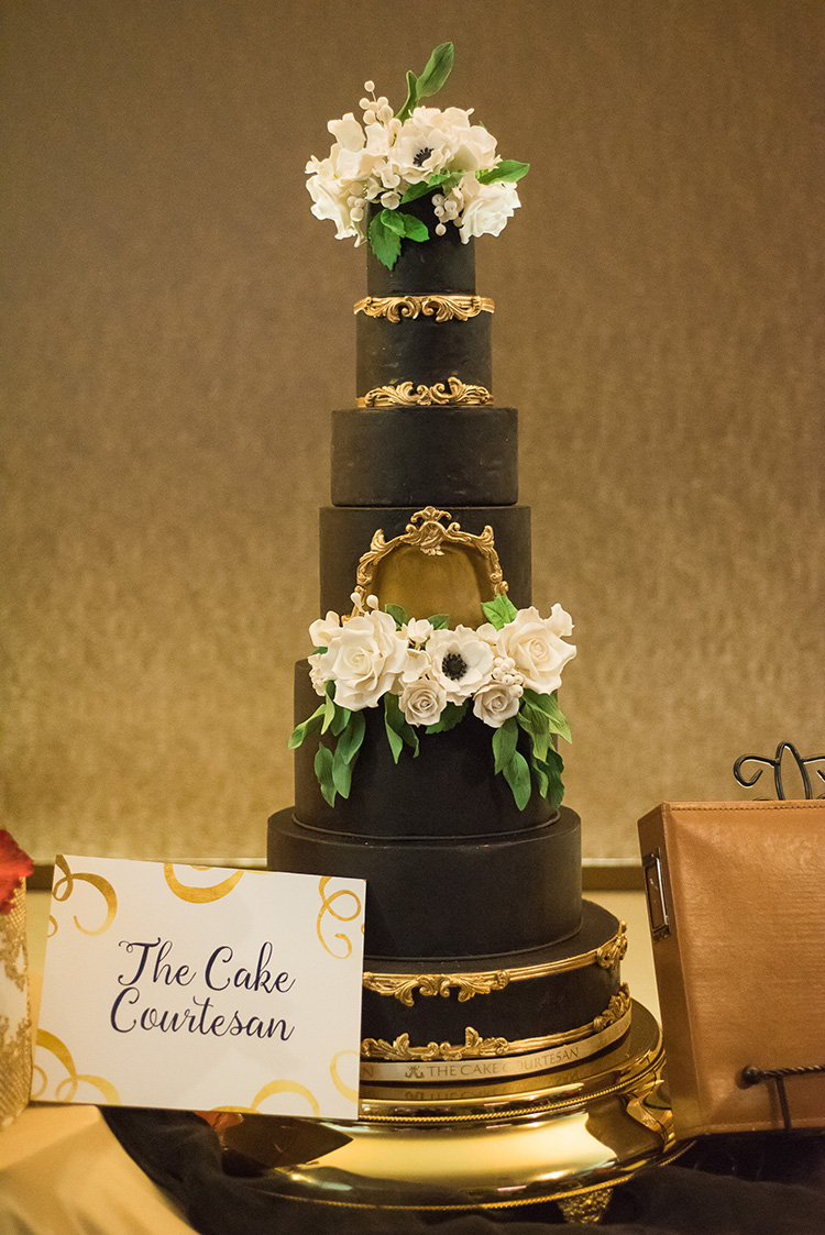 A beautiful wedding cake designed by the Cake Courtesan.