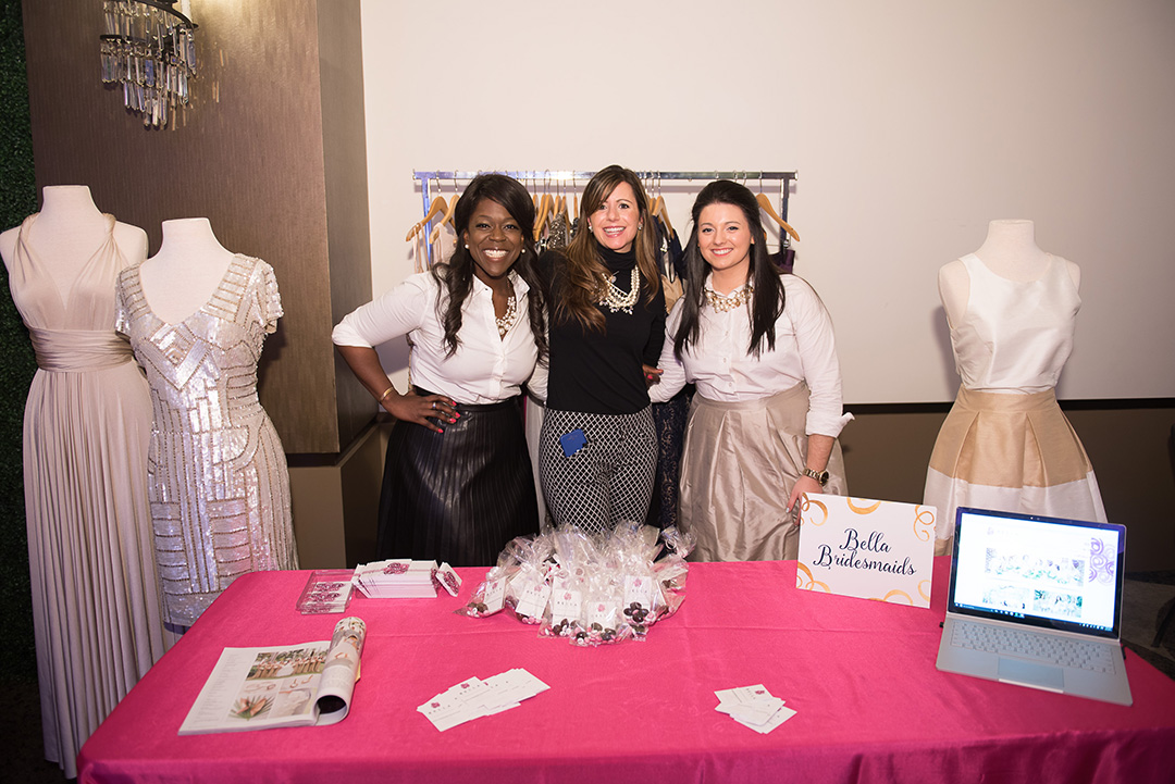 Bella Bridesmaids helped guests find the perfect bridesmaid dresses at their booth.