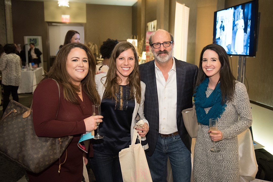 Jillian Klarman, Gina Frix, and Michele Klarman with MBK Photography's Michael Bennett Kress.