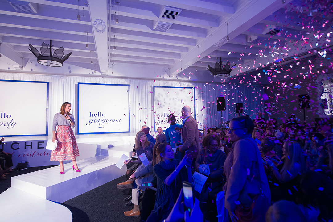 Guests were showered with colorful confetti at the end of the runway show thanks to Digital Lightning.