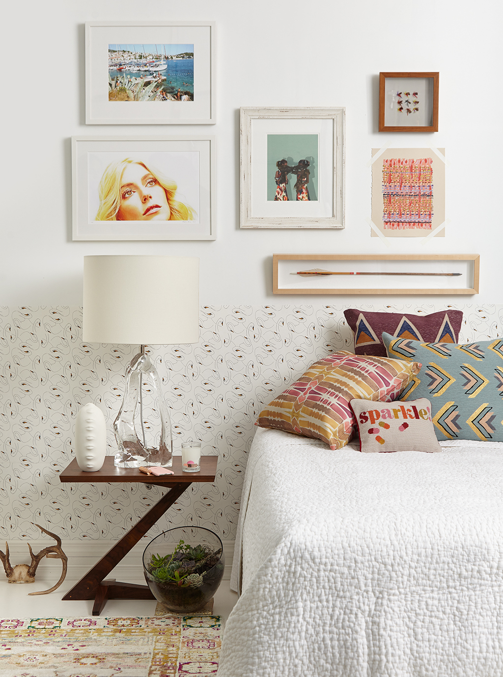 Inside our March 2016 issue: Up your bedroom's style game with fresh home decor tips. Photograph by Jeff Elkins.