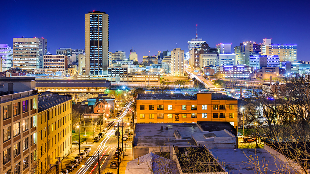 Richmond, Virginia, skyline.
