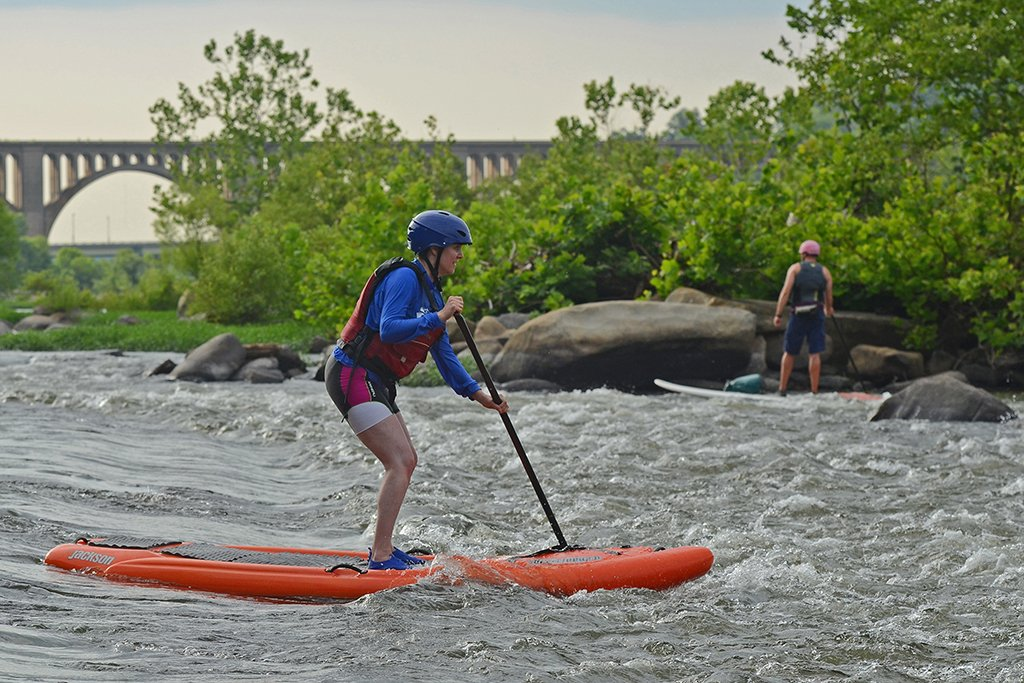 Paddleboarding with Riverside Outfitters in Richmond. Photograph by Rich Young.