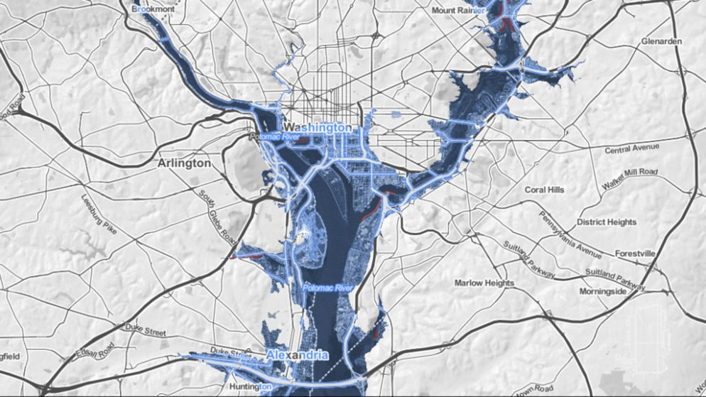 These Maps Show What Washington Will Look Like When Antarctica Melts