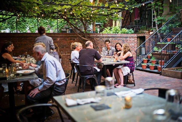 Iron Gate's romantic courtyard is a wonderful year-round stop.