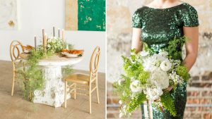 Modern and Chic St. Patrick's Day Wedding Inspiration at Long View Gallery