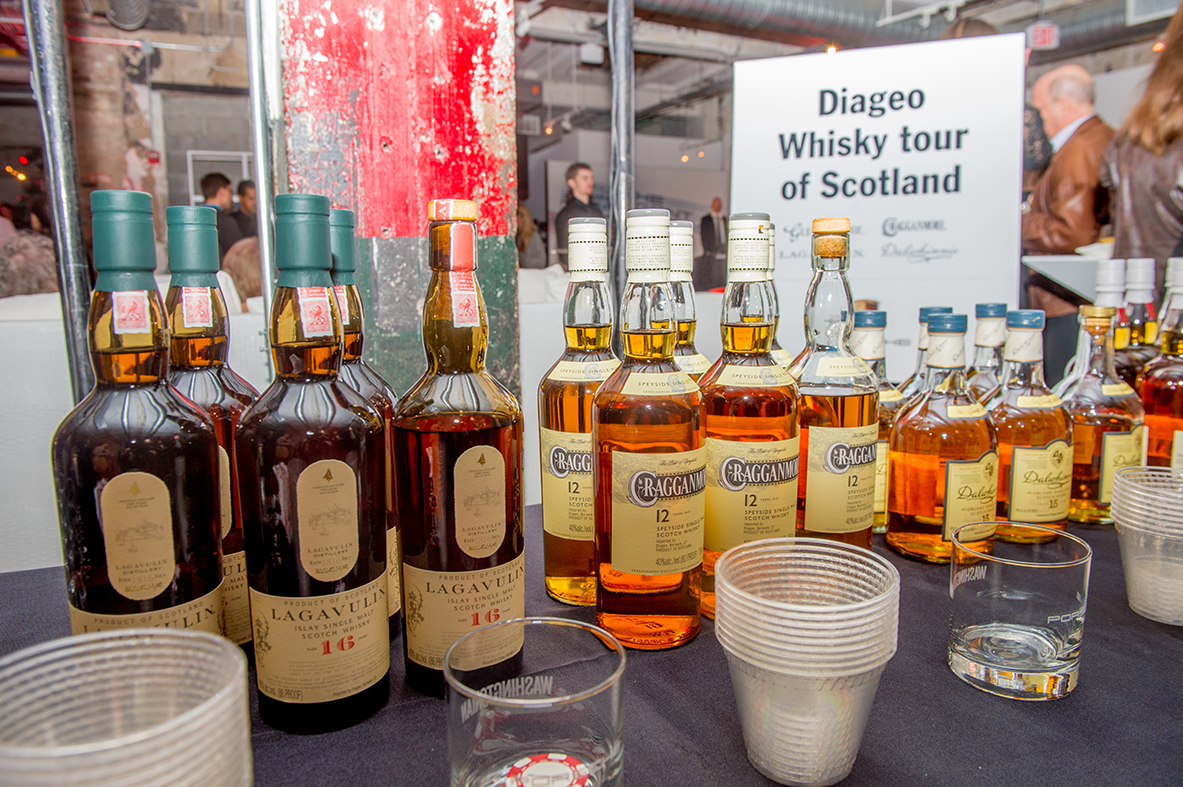 Diageo held a whisky tasting competition where guests sampled and voted for their favorite brand.