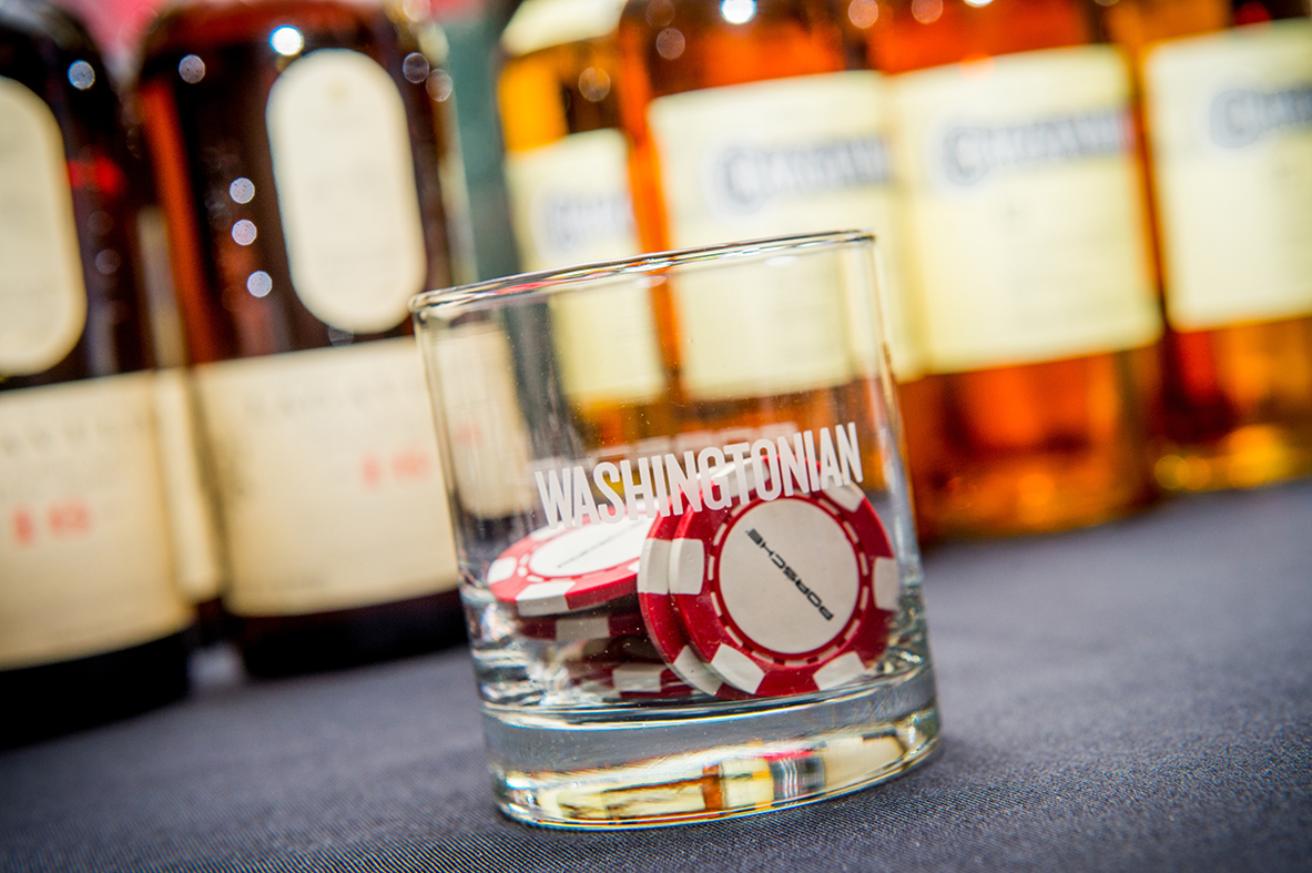 Guests used Porsche branded poker chips to vote for their favorite whiskey.