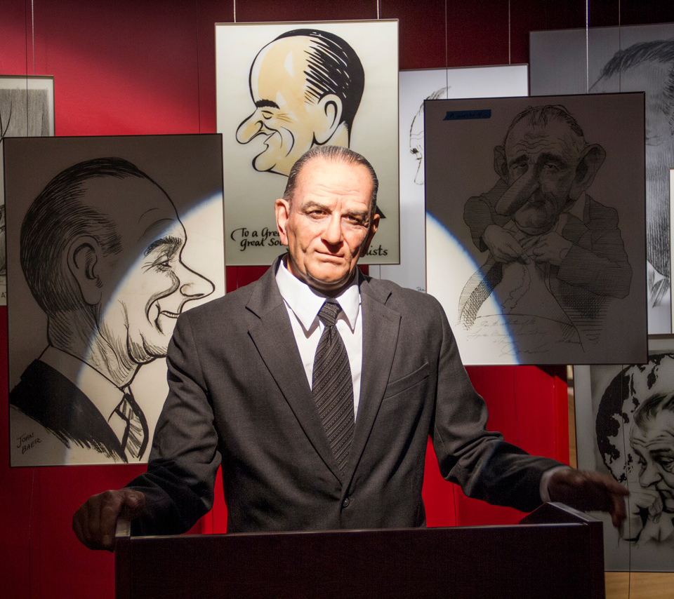 Austin, Texas. The LBJ library's animatronic chief executive. Photograph courtesy of LBJ Presidential Library.
