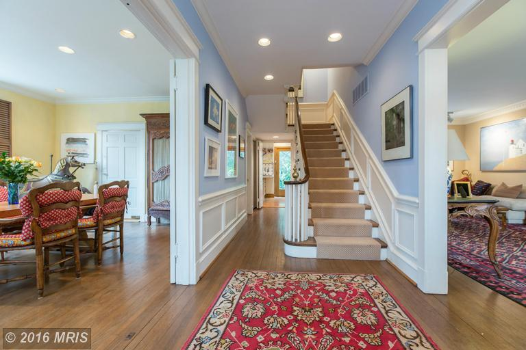 Front to back hall and stair -