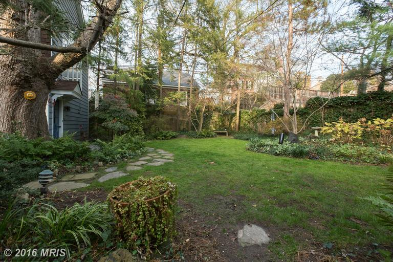 Very private rear yard -