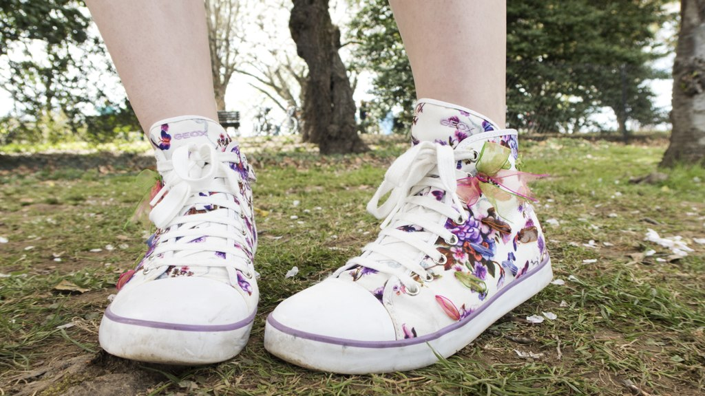 Cherry blossom kicks because, why not?