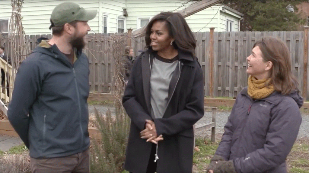 What It's Like When the First Lady Pays a Surprise Visit to Your Garden