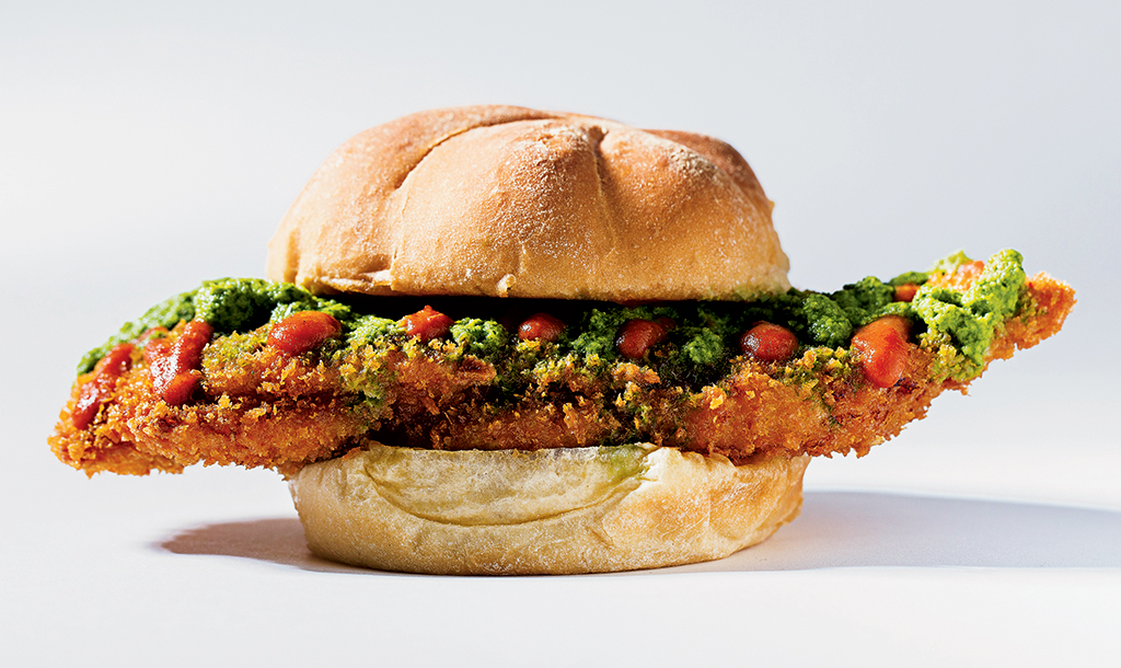 New sandwiches in DC: Angry Chicken Sandwich at Ray's Hell Burger Too. Photograph by Scott Suchman.