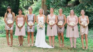 A Rose Gold Wedding That Will Make You Believe in Mismatched Bridesmaid Dresses
