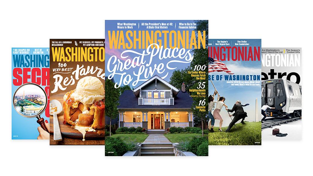 Washingtonian covers