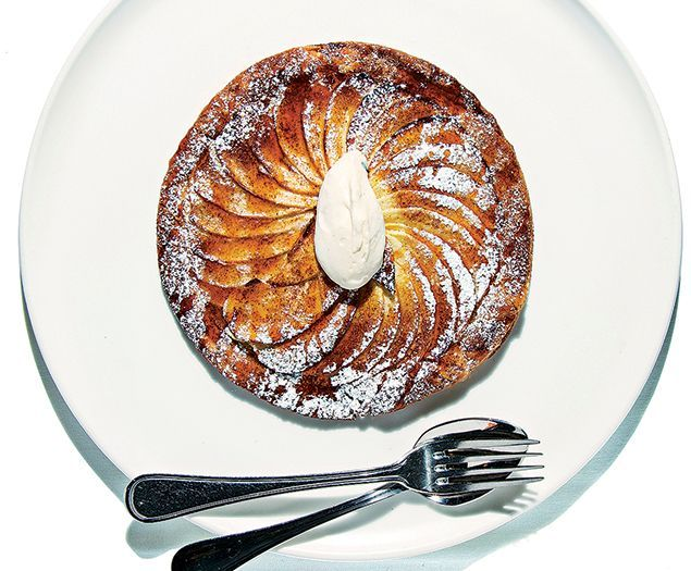 French classics like a delicious apple tart abound at Bistro Bis.