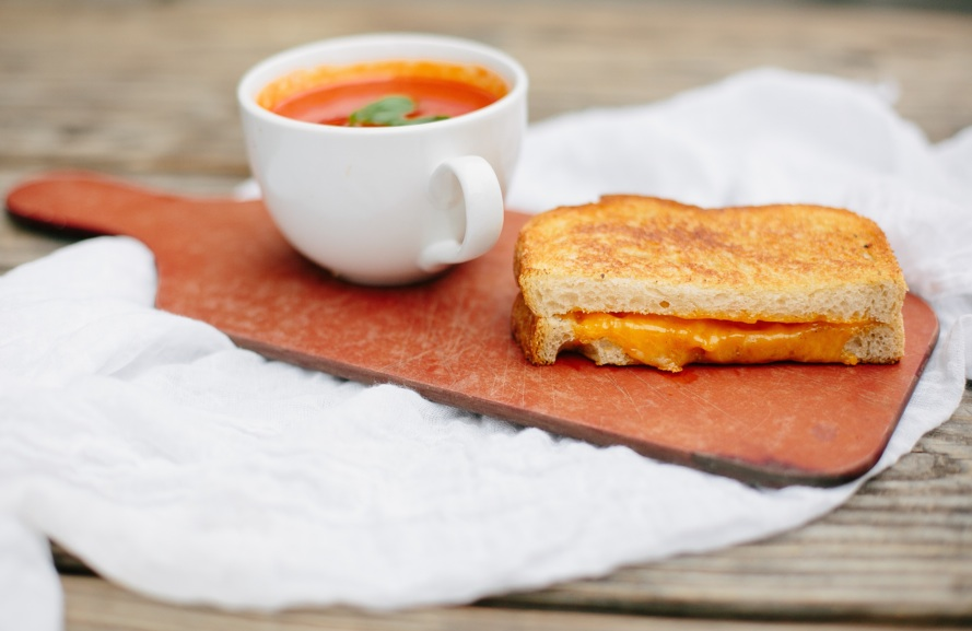 Glen's classic grilled cheese is comforting gooey goodness. Photograph via Glen's.