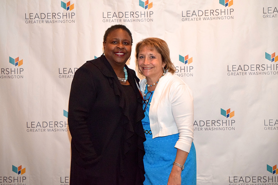 Former LGW Board Chairs Artis Hampshire-Cowan ('89) and Julie Rosenthal ('02) of JR Communications.