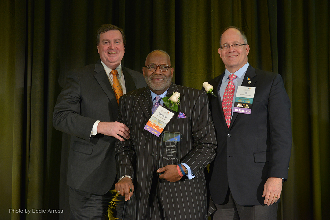 LGW President & CEO Doug Duncan ('15), Howard W. Stone, Jr., LGW's 2016 Public Sector Innovative Leader of the Year, and LGW Board Chairman Joe Budzynski ('06)