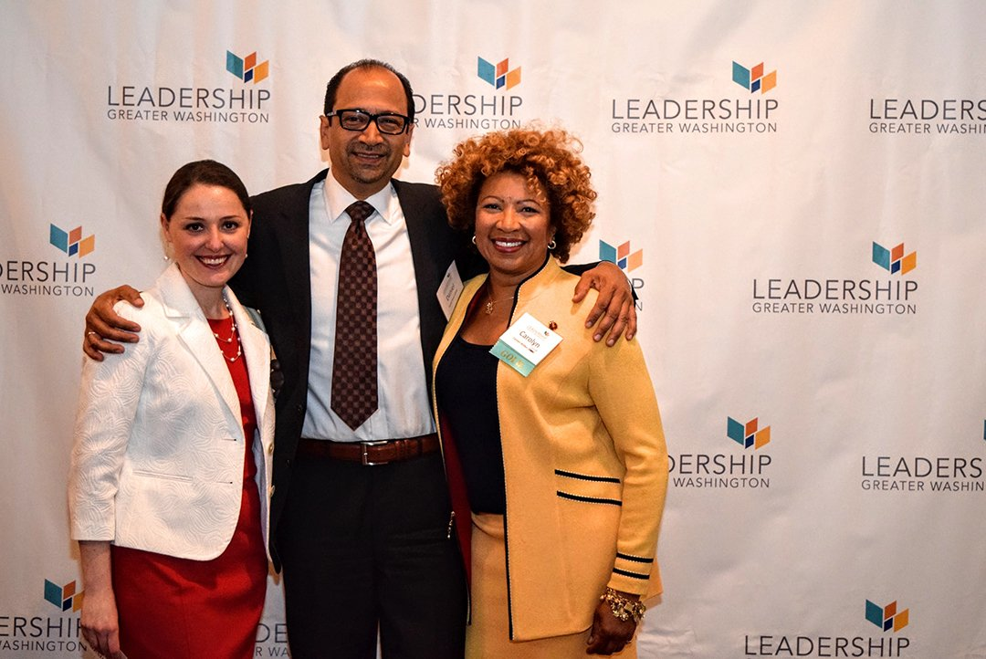 Margarita Rozenfeld ('10) CEO of Incite International, Daniel Flores ('10) of the Greater Washington Board of Trade, and Carolyn Walker ('10) CEO of TDP, LLC.