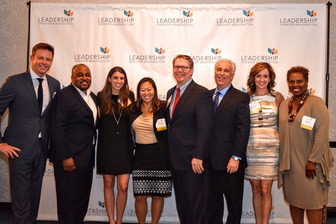 All from LGW's current Signature Class of 2016: Al Dominick of Bank Director, Earl Adams of Saul Ewing, Rebecca McFarland of Washingtonian, Nancie Suzuki ofThe Richard E. and Nancy P. Marriott Foundation, Mike Tryon of Tate & Tryon, Jerry Pasternak of Pepco Holdings, Jennifer Bognet of Bognet Constructions, and attorney Donna Wilson.