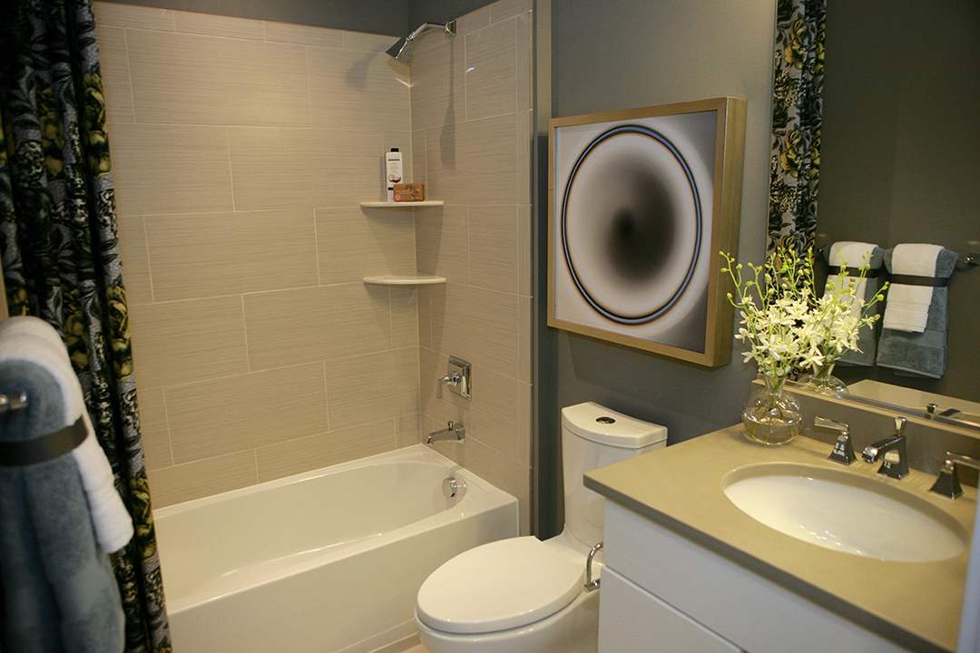 One of the three spacious bathrooms in the Bartlett model.