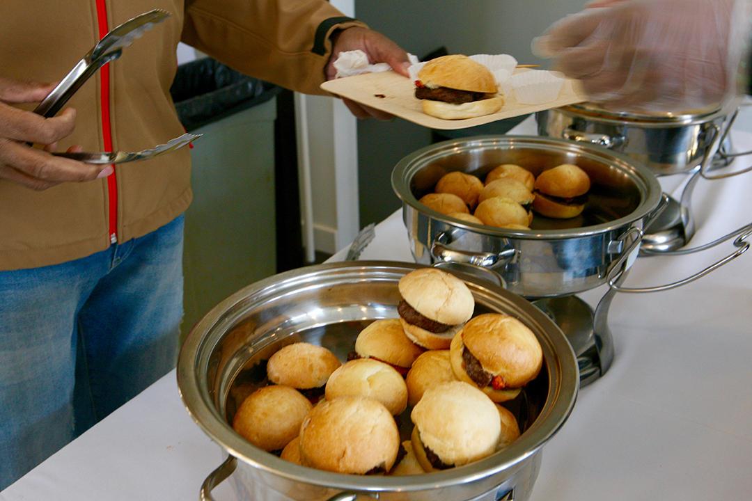 Guests enjoyed sliders by Joe Burke catering.