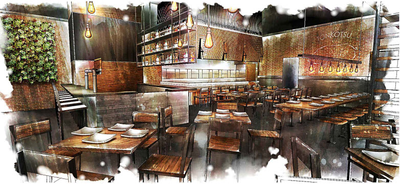 The first East Coast location of Jinya Ramen Bar lands in the Mosaic District. Rendering courtesy of Jinya