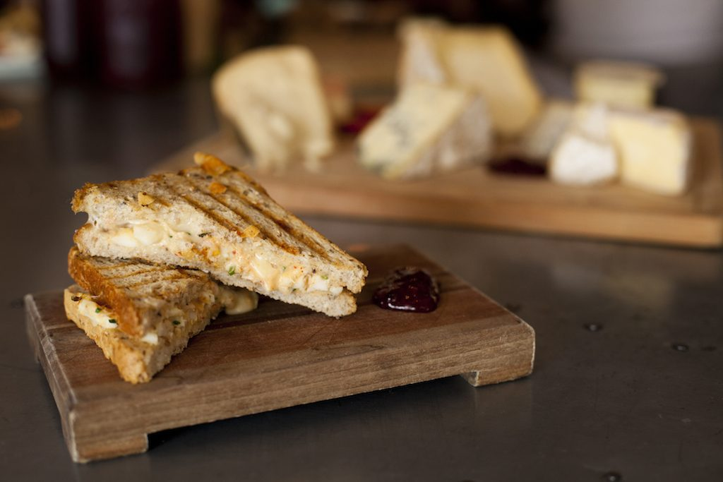 A whole bar devoted to grilled cheese awaits at Ripple. Photograph via Ripple