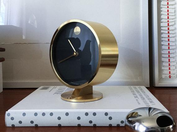 Howard Miller Solid Brass Museum Desk Clock U2013 $175