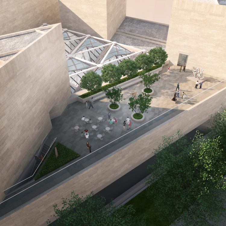 A aerial rendering of the roof terrace. Image by P.Y. Chin.