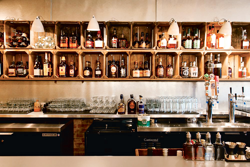 Derek Brown's whiskey-focused bar Southern Efficiency. Photograph by Andrew Propp.