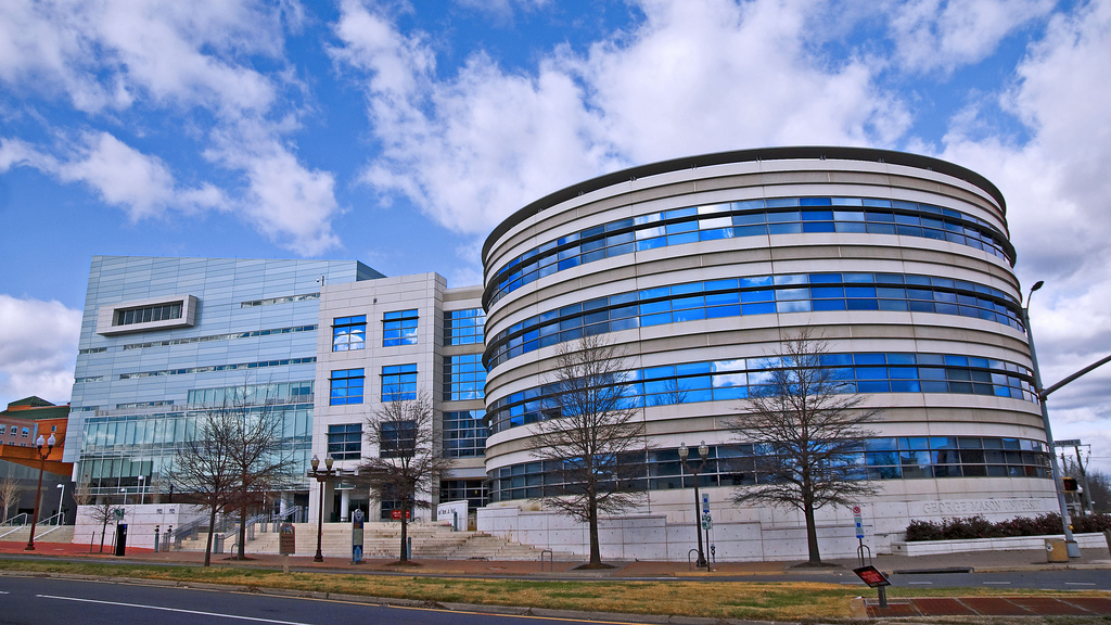 George Mason University's Arlington campus, where the law school is located. Photograph by Flickr user Ron Cogswell.