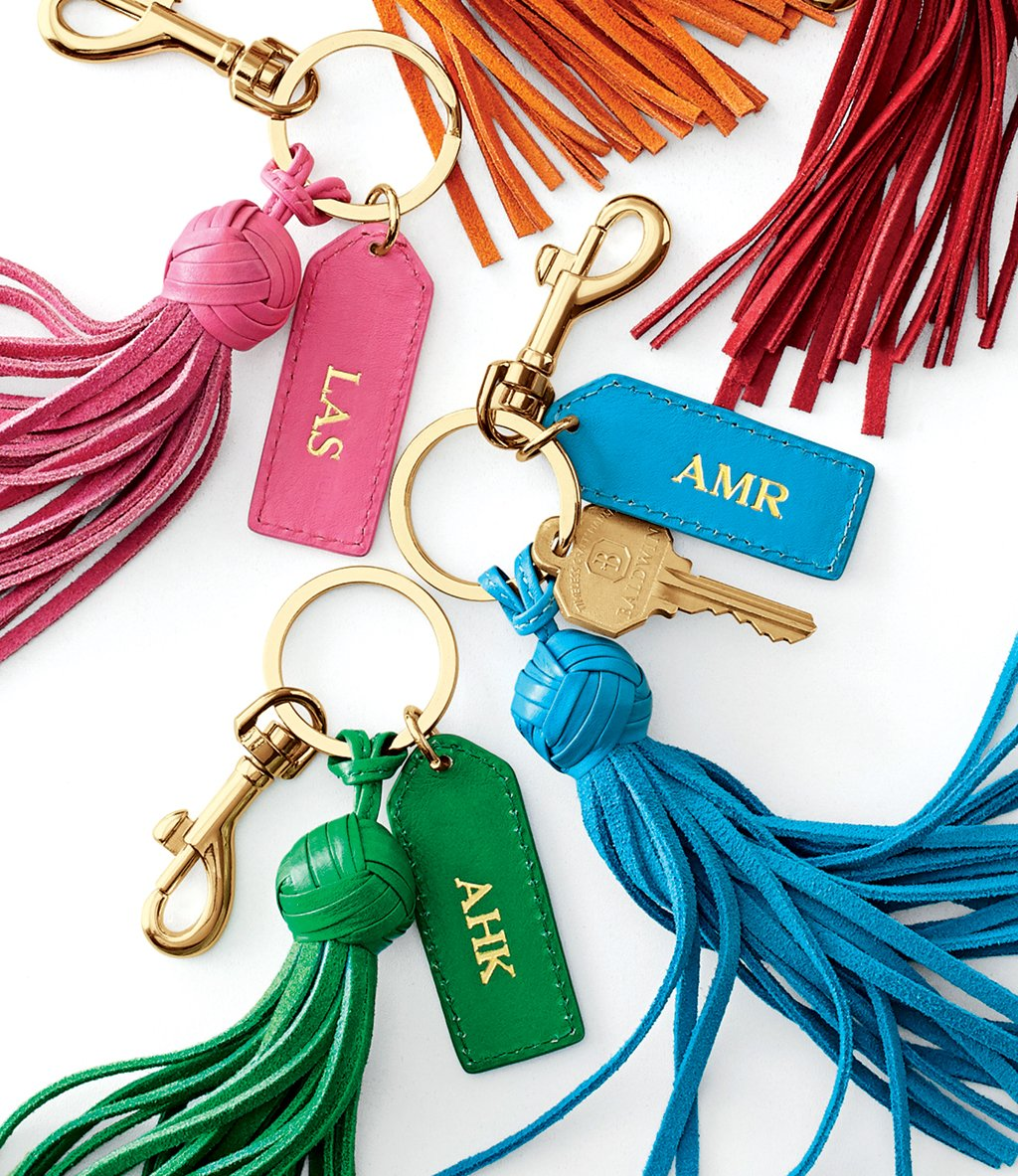 Best of Washington. Everything monogrammed (like these Mark & Graham key chains) is trending right now for gifts. They're individualized without being to personal.