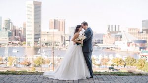 This Modern Pink Wedding Will Make You Want To Marry on the Baltimore Harbor