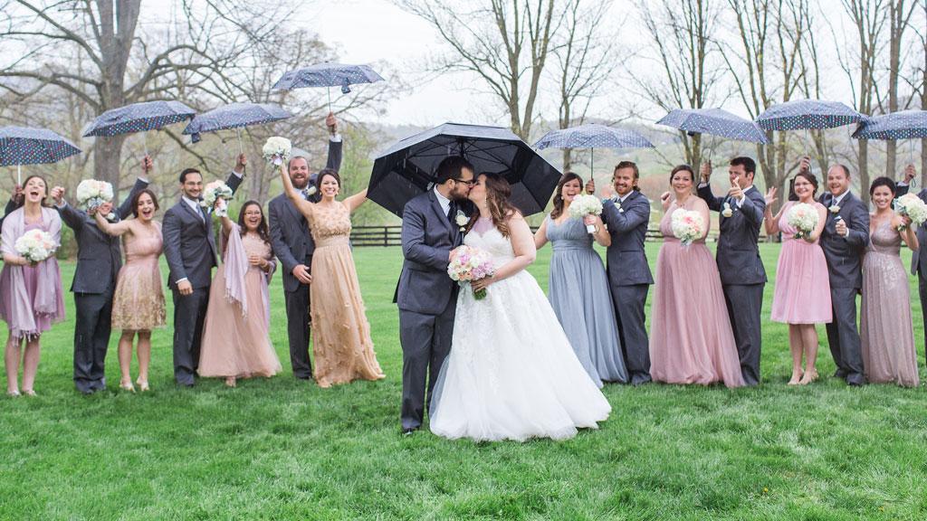 Not Even a Little Rain Could Ruin This Romantic Virginia Ranch Wedding