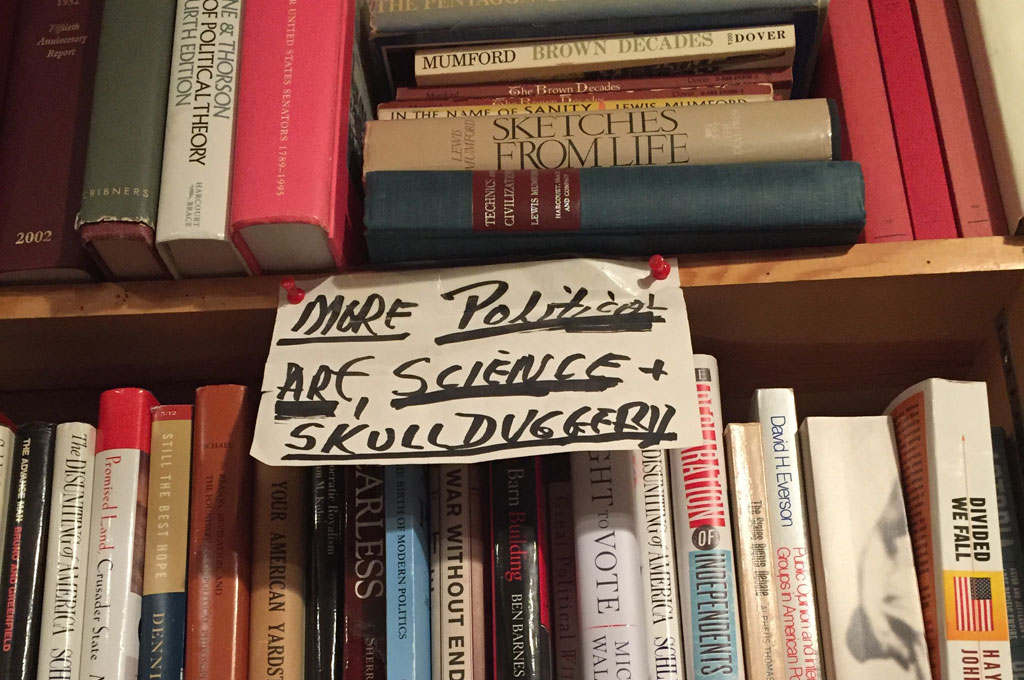 """Skullduggery"" is a classification of books in Toole's shop."