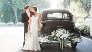 A Black and White Wedding With Rustic Flair