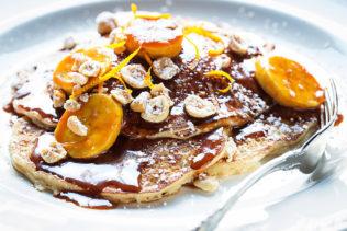 Banana pancakes. Photograph by Scott Suchman. Courtesy of Tico.