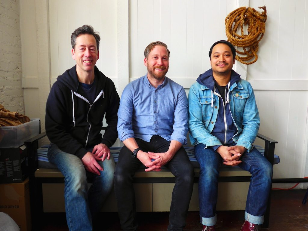 The Cappy's crew (left to right): co-owner Paul Ruppert, chef Johnny Spero, and co-owner Nick Pimentel. Photograph by Anna Spiegel