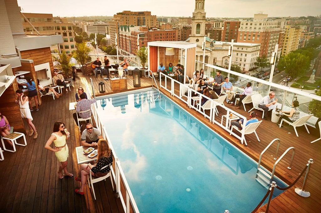 Best rooftop pool bar brunch DC DNV Rooftop.